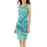 Studio 1® Sleeveless Jeweled-Neck Sheath Dress - Petite