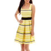 Danny & Nicole® Sleeveless Striped Dress - Petite