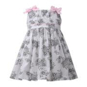 Bonnie Jean® Bow-Shoulder Printed Dress - Baby Girls newborn-24m