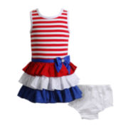 Youngland® Tiered Dress – Baby Girls 3m-24m