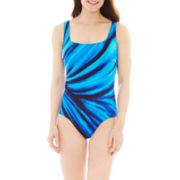 Robby Len by Longitude® U-Back 1-Piece Tank Swimsuit