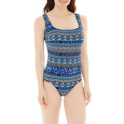 Robby Len by Longitude® X-Back 1-Piece Tank Swimsuit
