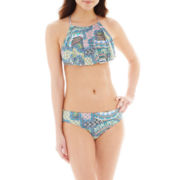 a.n.a® Tribal Print Apron Handkerchief Swim Top or Hipster Bottoms