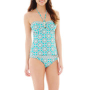 a.n.a® Medallion Tankini Swim Top or Ring Hipster Bottoms