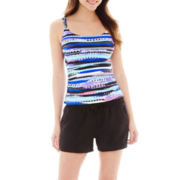 Studio by Christina Print Tankini Swim Top or Solid Knit Shorts