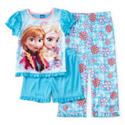 Disney Frozen 3-pc. Pajama Set – Toddler Girls 2t-4t