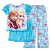 Disney Frozen 3-pc. Pajama Set - Toddler Girls 2t-4t