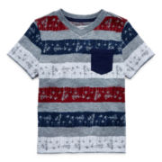 Arizona Striped Pocket Tee – Toddler Boys 2t-5t