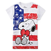 Snoopy Graphic Glitter Tee – Girls 7-16