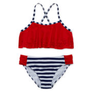 Angel Beach USA Laser-Cut 2-pc. Swimsuit – Girls 7-16