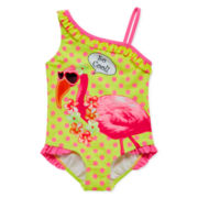 Angel Beach Flamingo 1-pc. Swimsuit - Toddler Girls 2t-5t