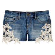 Vigoss® Crochet-Lace Denim Shorts – Girls 7-14