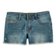 Vigoss® Rhinestone-Embellished Denim Shorts - Girls 7-14