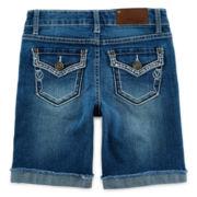 Vigoss® Rhinestone-Embellished Bermuda Shorts – Girls 7-14