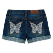 Vigoss® Butterfly Embroidered Denim Shorts – Girls 7-14