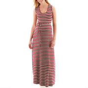 Maternity Belted Tank Maxi Dress - Plus
