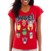 Marvel® Short-Sleeve Heroes High-Low Graphic T-Shirt