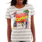 Marvel® Short-Sleeve Heroes Striped Graphic T-Shirt