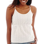 Arizona Nautical Woven Tank Top - Plus