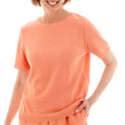 Alfred Dunner® Short-Sleeve Chevron Sweater