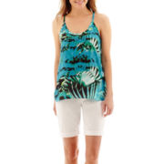 a.n.a® Woven Swing Tank Top or Denim Bermuda Shorts - Petite