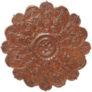 Floral Metal Wall Medallion