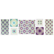 Purple and Teal 7-pc. Wall Decor Set