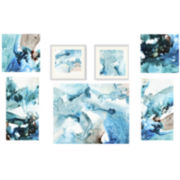 Watercolor in Blue 7-pc. Wall Decor Set