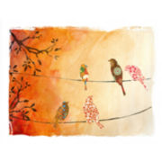 Birds Gathered Canvas Wall Art