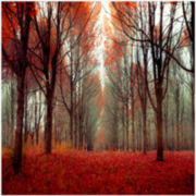Red Tree Forest Canvas Wall Art