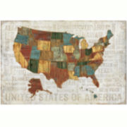 United States Canvas Wall Art