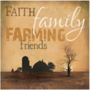 Family Faith Canvas Wall Art