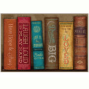 Books of Love Canvas Wall Art