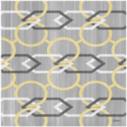 Yellow and Gray Links Canvas Wall Art