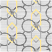 Yellow and Gray Vertical Links Canvas Wall Art