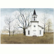 Country Church Canvas Wall Art