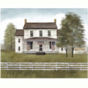 Patriotic White House Canvas Wall Art