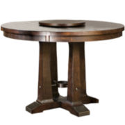 Maddox Dining Table with Lazy Susan