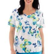 Alfred Dunner® Summer Short-Sleeve Butterfly T-Shirt