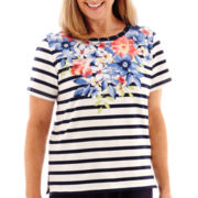 Alfred Dunner® Summer Short-Sleeve Striped T-Shirt