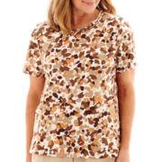 Alfred Dunner® Summer Short-Sleeve Tile Print T-Shirt