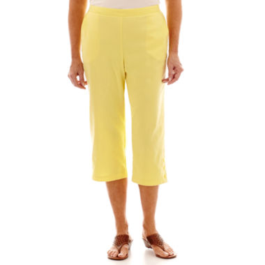 jcpenney.com | Alfred Dunner® Sunny Days Button-Cuff Pull-On Capris