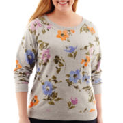 St. John's Bay® Printed Sweatshirt - Plus
