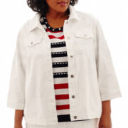 Alfred Dunner® American Dream Denim Jacket - Plus