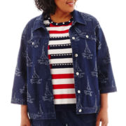 Alfred Dunner® American Dream Denim Jacket - Plus