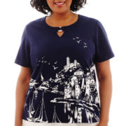 Alfred Dunner® American Dream Short-Sleeve Scenic Top - Plus