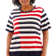 Alfred Dunner® American Dream Colorblock Striped Top - Plus