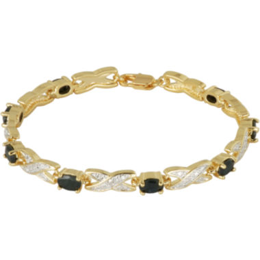 jcpenney.com | Classic Treasures™ Genuine Sapphire and Diamond-Accent Tennis Bracelet