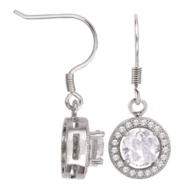 jcpenney.com | Sparkle Allure™ Round Cubic Zirconia Drop Earrings