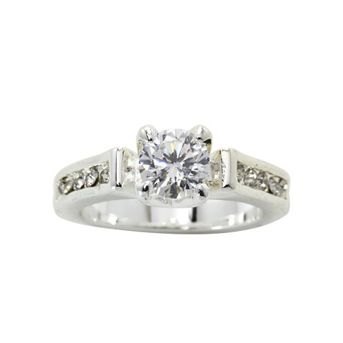 city x city® Silver-Plated Cubic Zirconia Ring